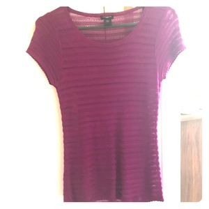 Ann Taylor purple short sleeve top